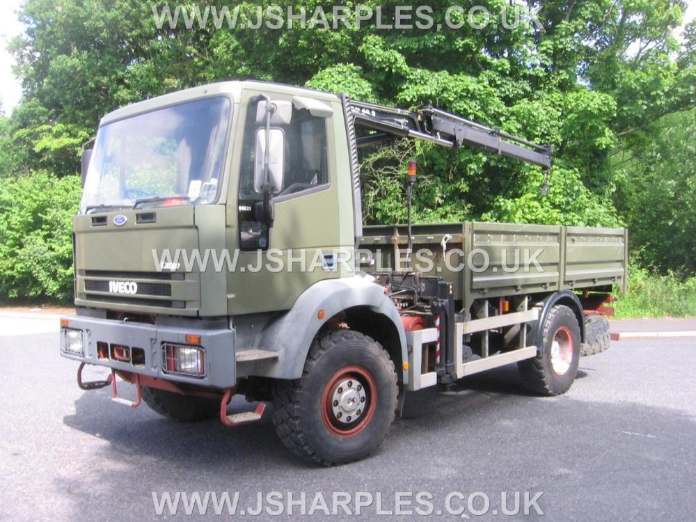iveco 95e21 4x4 truck c w atlas crane for sale j sharples. Black Bedroom Furniture Sets. Home Design Ideas