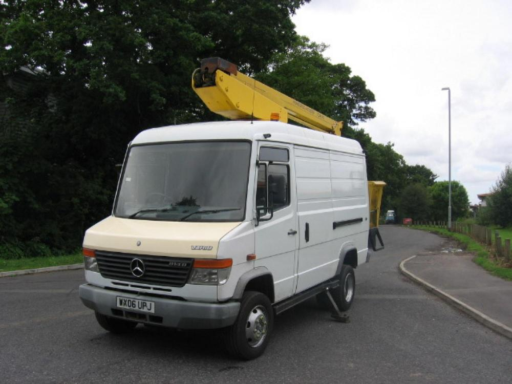 mercedes vario 814 14 5m cherry picker for sale j sharples. Black Bedroom Furniture Sets. Home Design Ideas