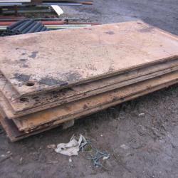 1 STEEL ROAD PLATE 2.5 MTR X 1.25 MTR 20MM THICK
