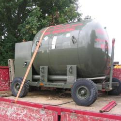 INSULATED CRYOGENIC STAINLESS STEEL VESSEL / TANK TRAILER EX MOD / ARMY