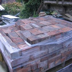 WIRE CUT / COMMON RECLAIMED BRICK 3 INCH THICK .